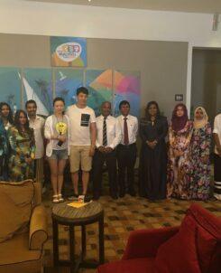 750,000th visitor to maldives