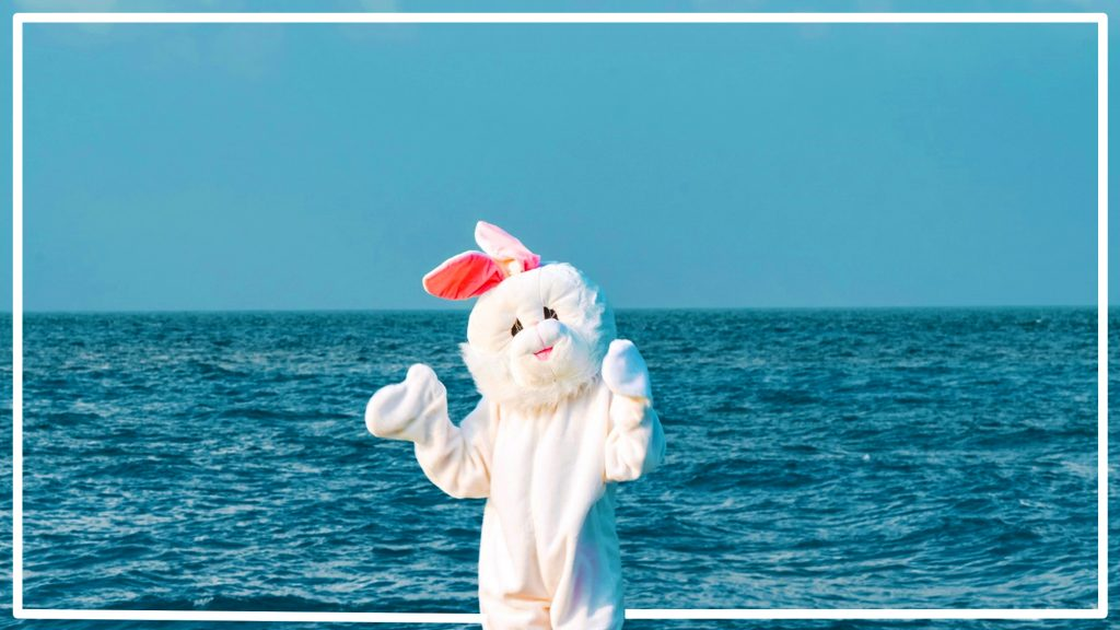 Easter Bunny at Lily Beach Resort & Spa