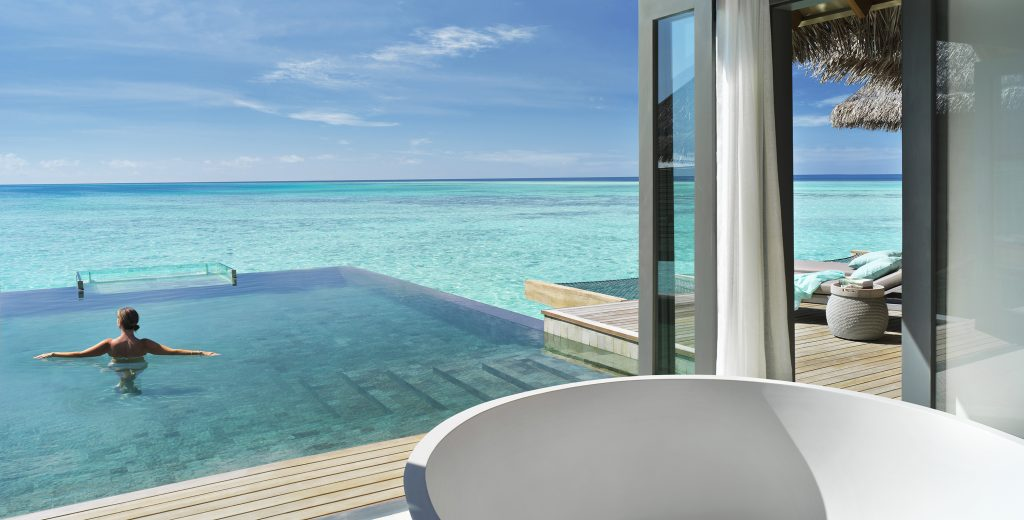 3. One Bedroom Over Water Pool Residence