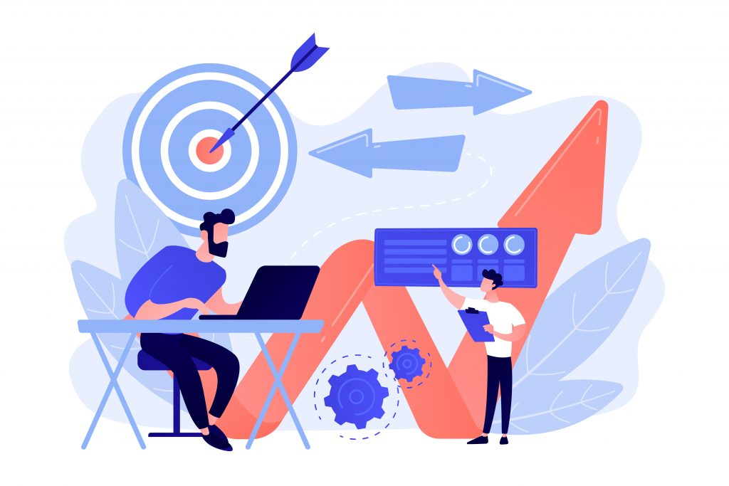 Business direction concept vector illustration.