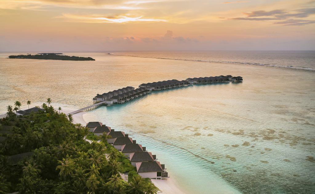 Le Meridien Maldives Resort & Spa_Island Aerial_Sunrise
