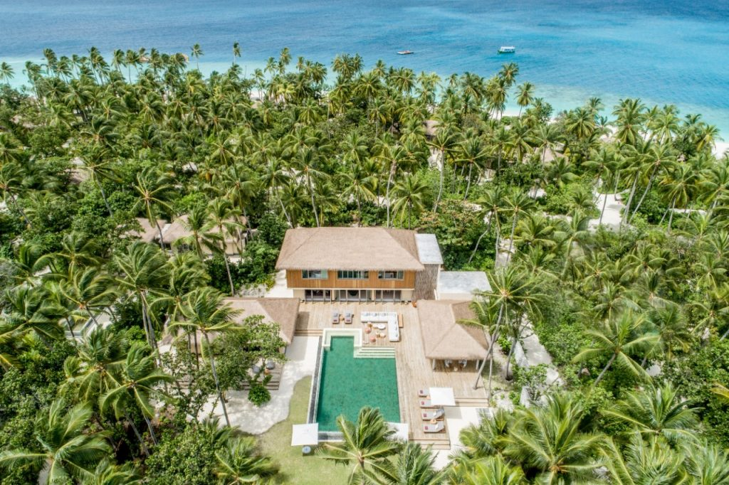 InterContinental Maldives - Aerial View of the 3 Bedroom Royal Beachfront Residence