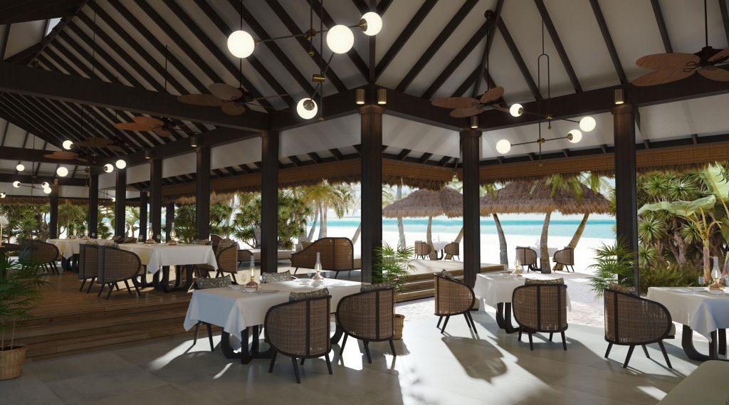 Naladhu Private Island Maldives - The Living Room - Interior View