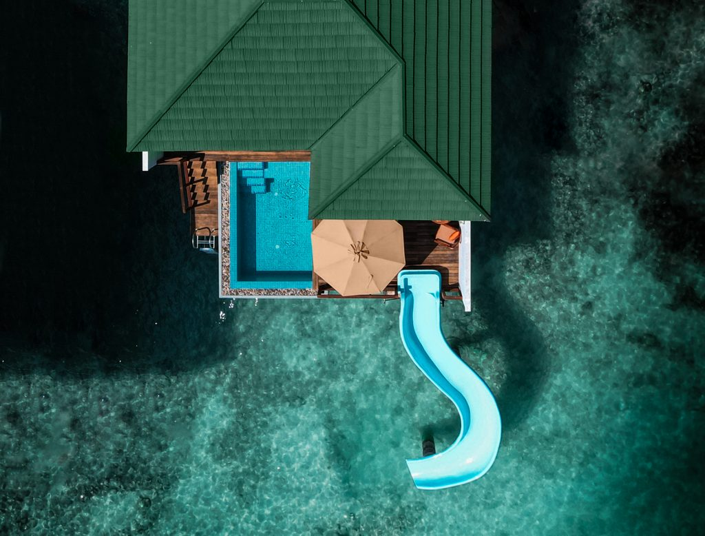 WATER VILLA WITH POOL + SLIDE