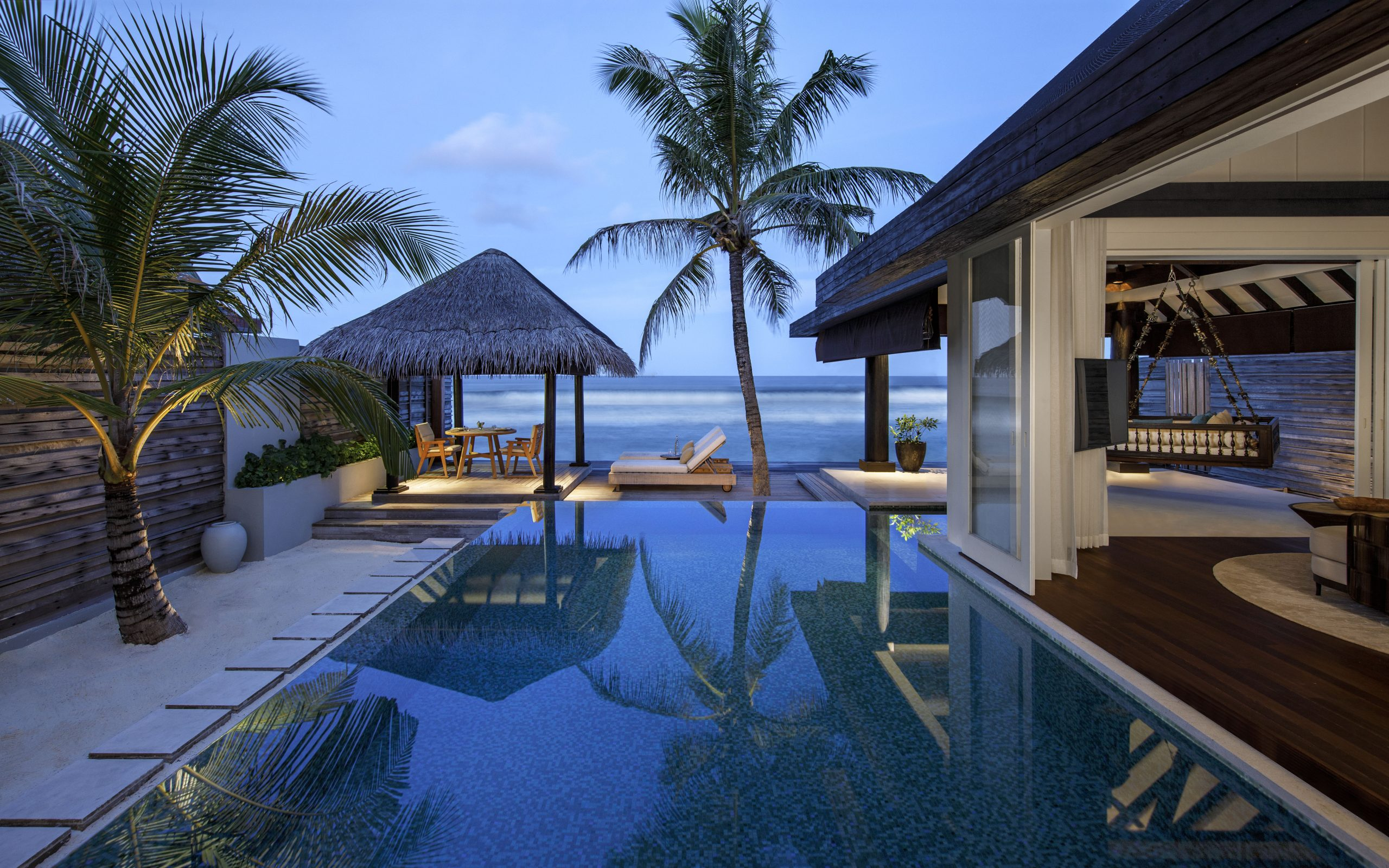 Naladhu Private Island - Ocean House - Pool and Garden View