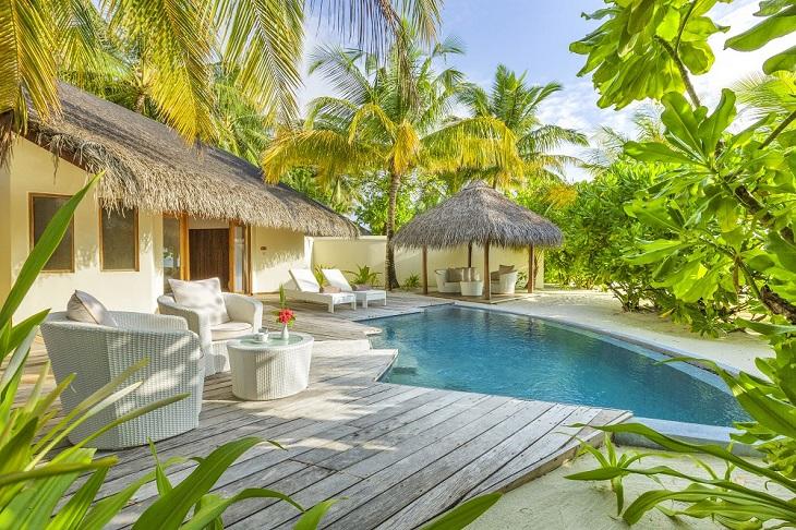 The stunning Pool Villa offers 2 adjoining villas.
