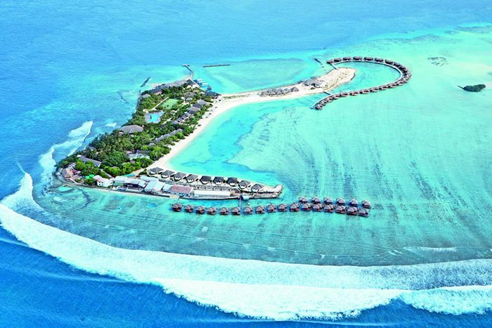 Chaaya Island Dhonveli, managed by Sri Lankan company John Keells group.