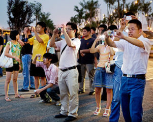 Chinese Tourists Taking pictures