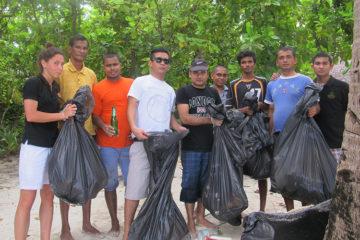 Clean-up event at Embudu Island by Coco Palm Dhuni Kolhu associates