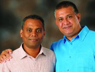 From left to right-Mindika Thushara & Keith Blom