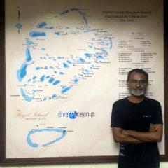 Hussain 'Sendi' Rasheed at diveOceanus at Royal Island.