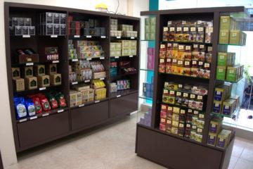 Tea boutique interior