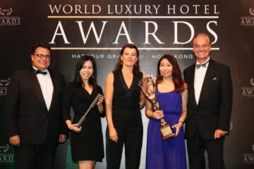 Representatives for Hotel Plaza Athénée, winner of The Overall Hotel Winner Award.