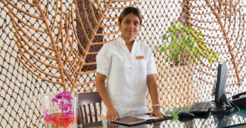 Xubba in her role as Spa Manager of Kurumba Maldives' Veli Spa.